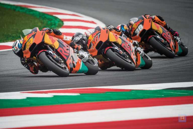 Pol Espargaro, Mika Kallio & Bradley Smith KTM RC16 Red Bull Ring Spielberg 2017