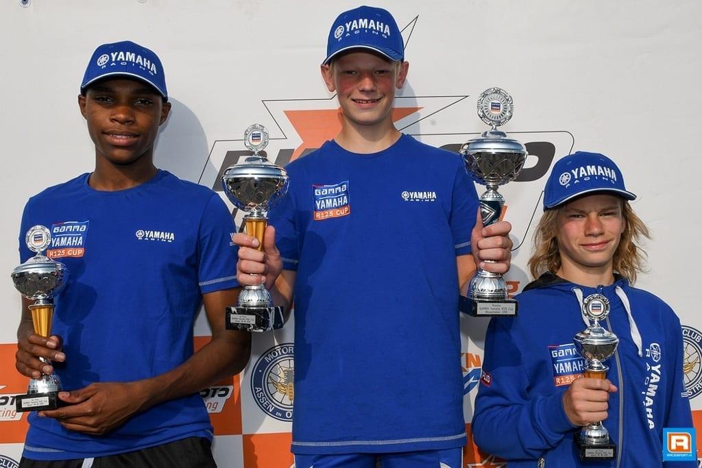 De Haan Staphorst.Gamma Yamaha R125 Cup Hattrick Voor Eddie De Boer In Assen